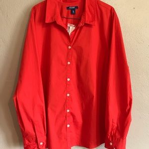 Old Navy Long Sleeve Button Down Collar Top